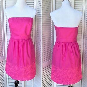 EUC Vineyard Vines Hot Pink Fish Dress Sz 6